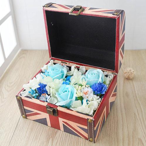British Flag Jewelry Box Flowers 英國旗首飾花盒