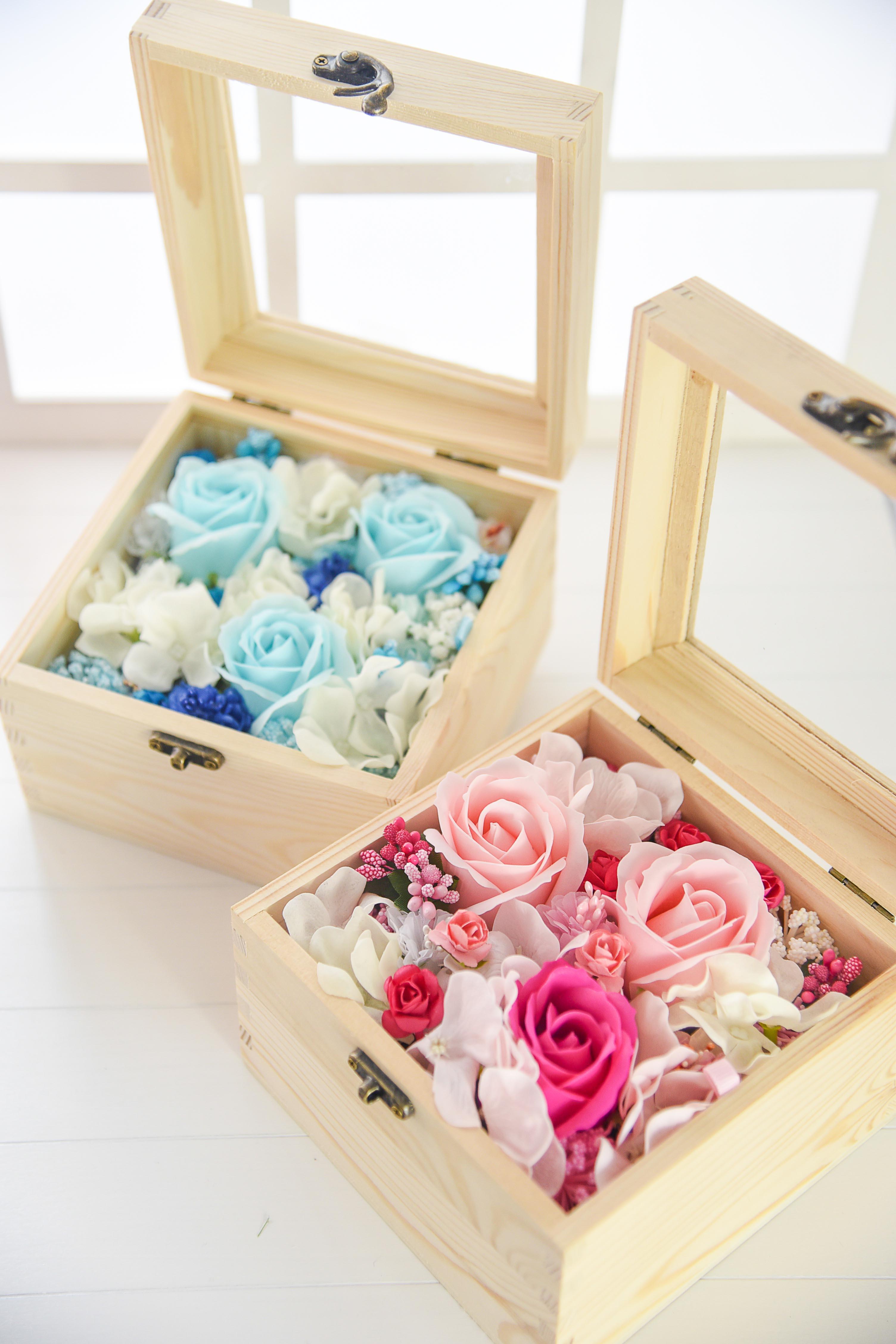Wooden Box Flowers