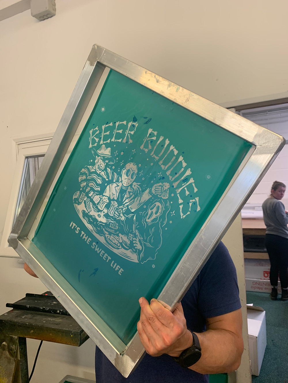 Making screens ready for screen printing