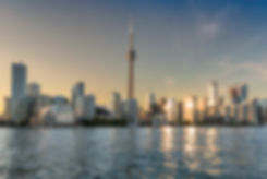 Toronto skyline at sunset - Toronto, Ont