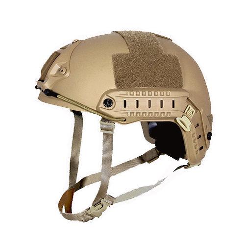 Kevlar NIJ IIIA Bulletproof + V50 Fragproof HCD Helmet Desert Coyote Large
