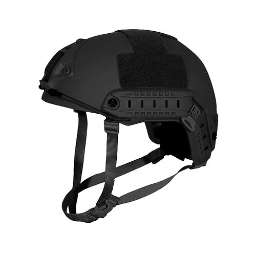 Kevlar NIJ IIIA Bulletproof + V50 Fragproof HCD Helmet Midnight Black Large