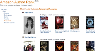 PICTURE Most pop author in Paranormal #1