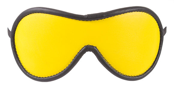 Yellow Blindfold With Black Suede Lining