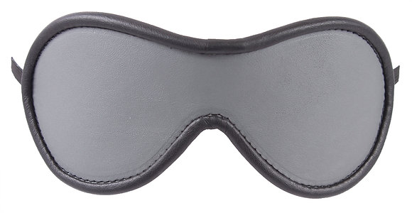 Grey Blindfold With Black Suede