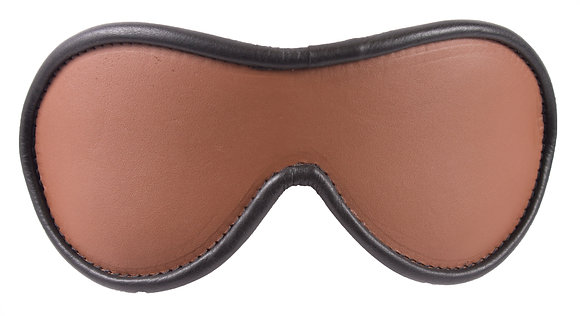 Brown Blindfold With Black Suede