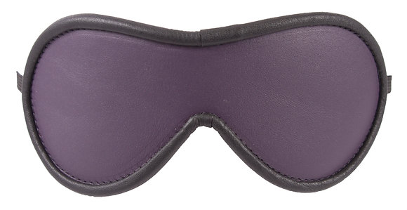 Purple Blindfold With Black Suede