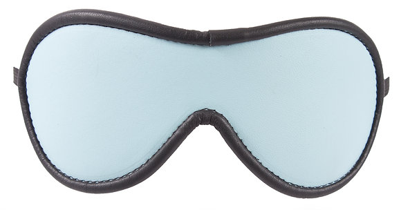 Baby Blue Blindfold With Black Suede