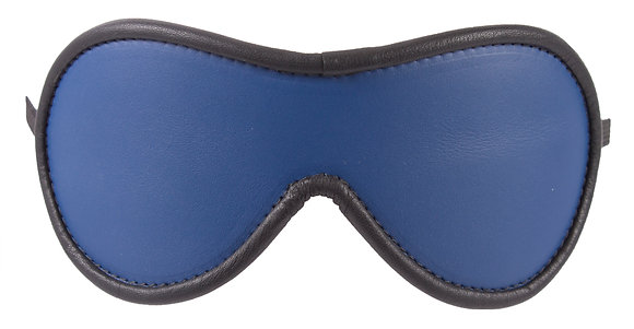 Blue Blindfold With Black Suede
