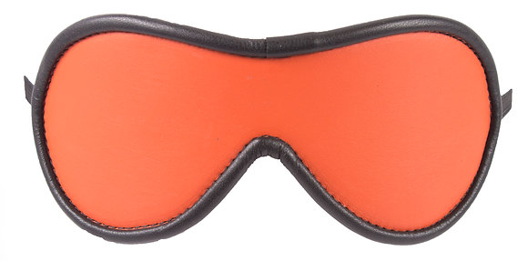 Orange Blindfold With Black Suede