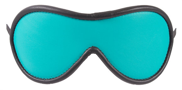 Turquoise Blindfold With Black Suede