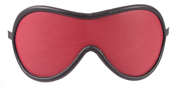 Red Blindfold With Black Suede