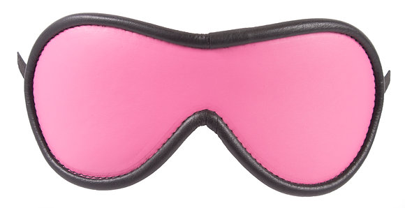 Hot Pink Blindfold With Black Suede