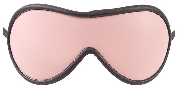 Light Pink Blindfold With Black Suede