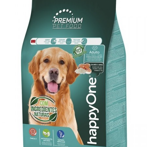 HappyOne Premium Cão Adulto - Salmão E Arroz
