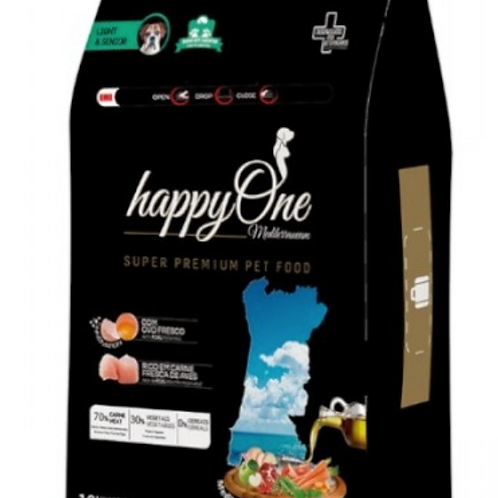 HappyOne Mediterraneum Cão Light & Sénior Aves
