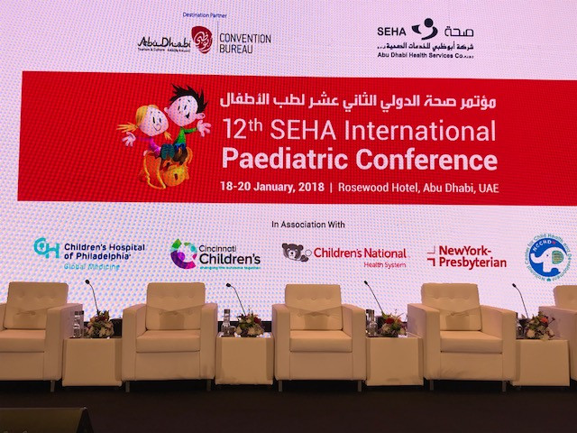 Children's Hospital of Philadelphia is proud to be the Lead Sponsor at the SEHA Pediatric International Conference in Abu Dhabi this week.