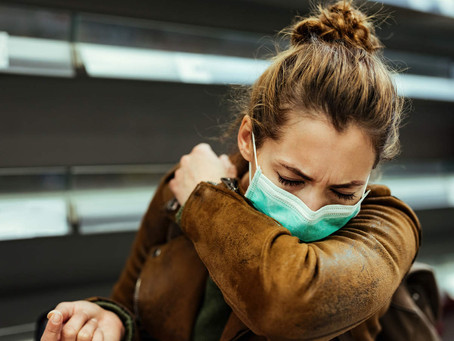 University of Cambridge study measures effectiveness of different face mask materials when coughing.