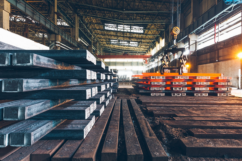 interior view of a steel factory,steel i