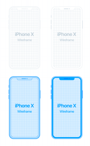 iPhone X Wireframe