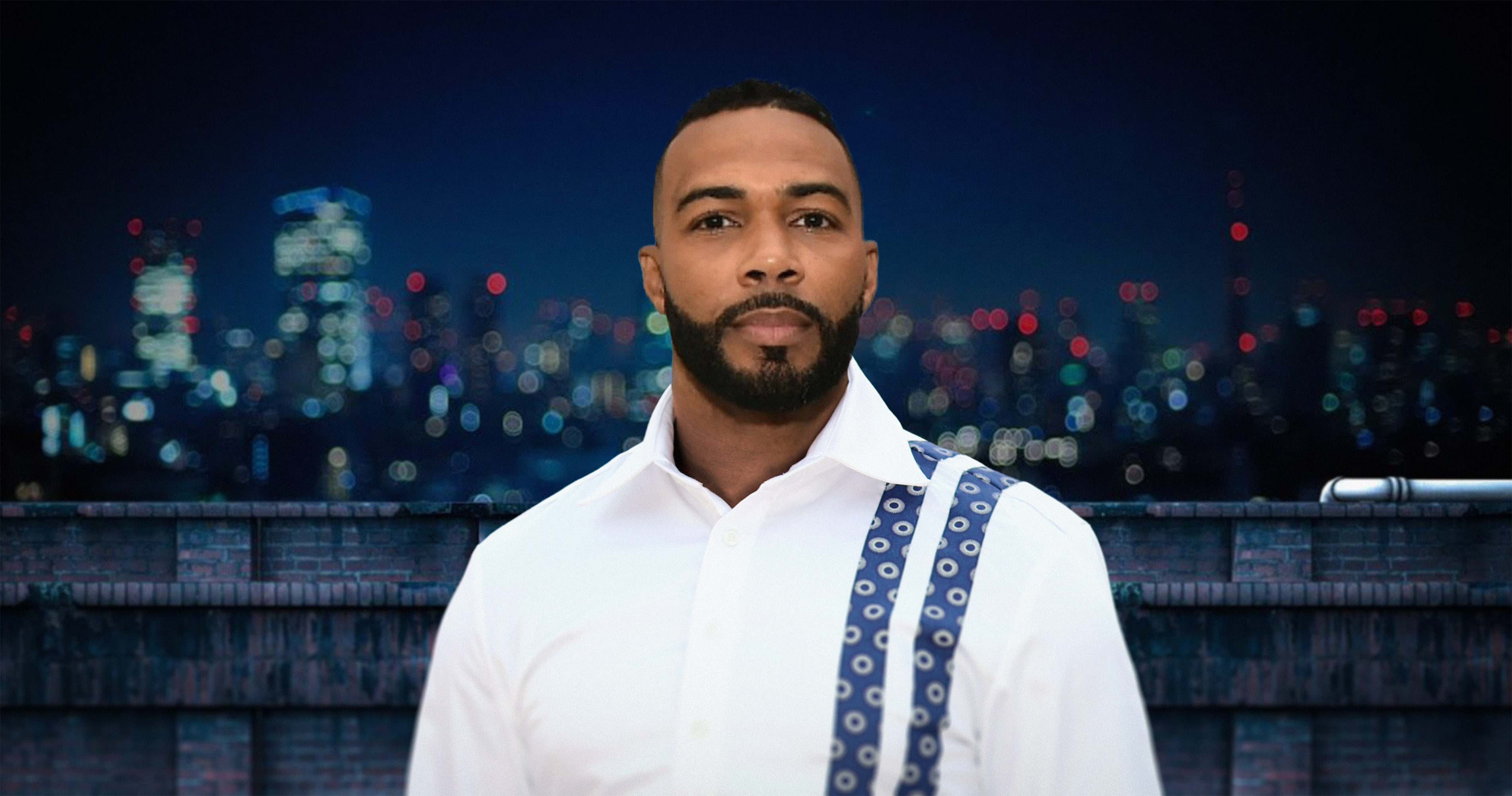 Omari Hardwick in African wear Shwe by G