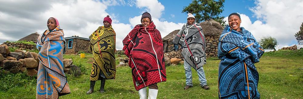 african basotho blanket from Lesotho