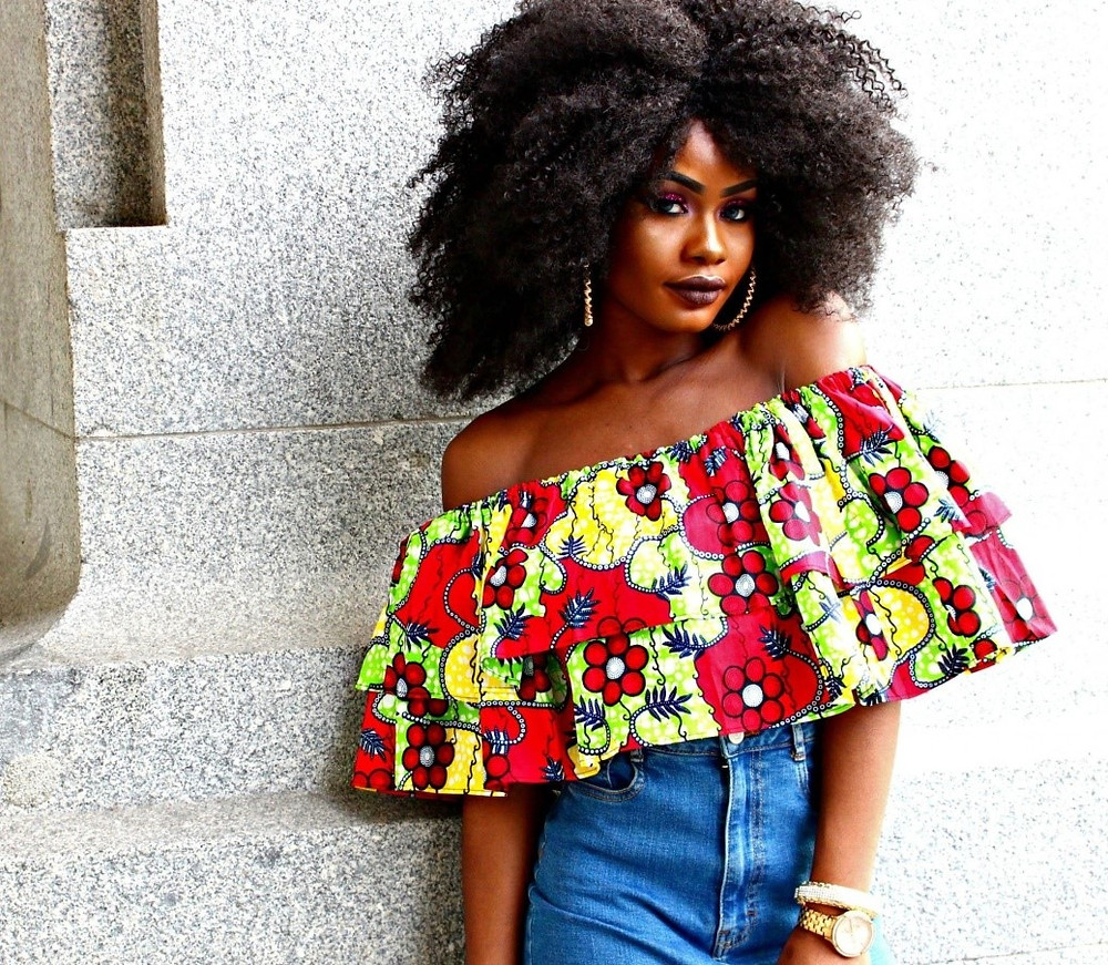 African off the shoulder style