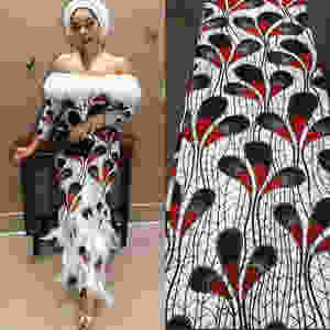 Feathers in african fashion design