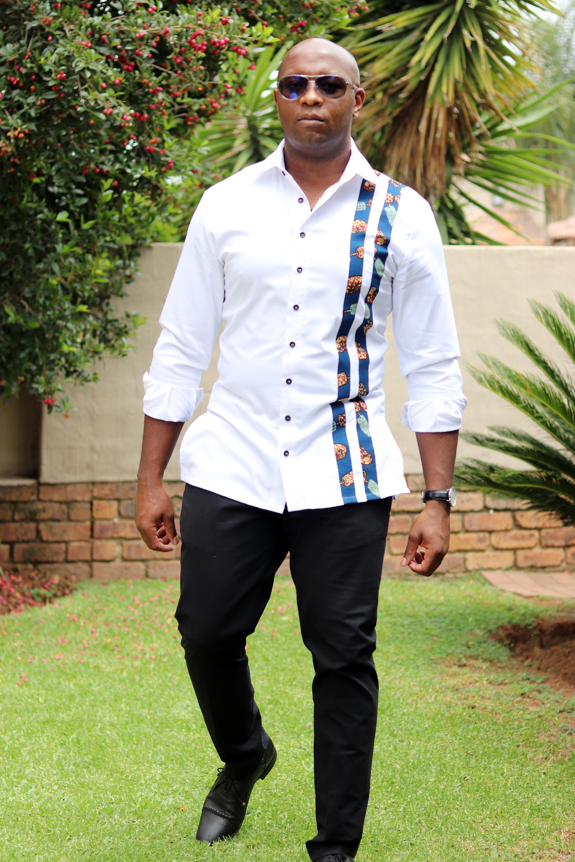 Ankarra floral white African Print shirt