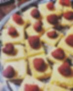 Lovely lavender lemon bars for dessert!_