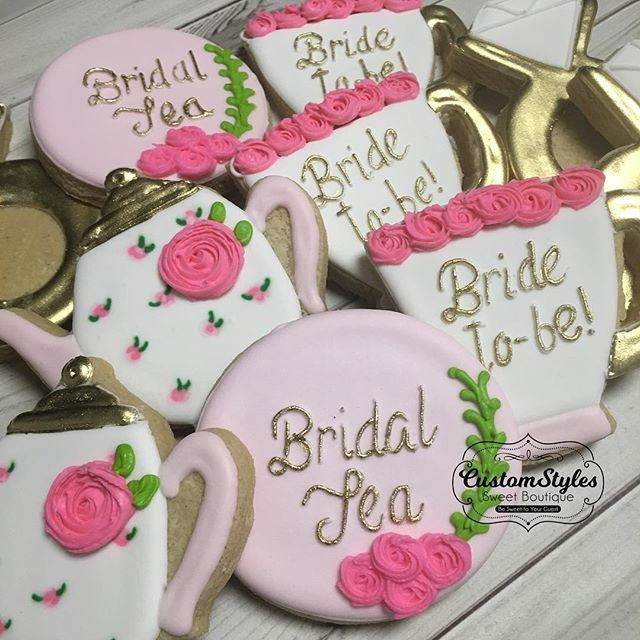 Custom Bridal Tea Party cookies