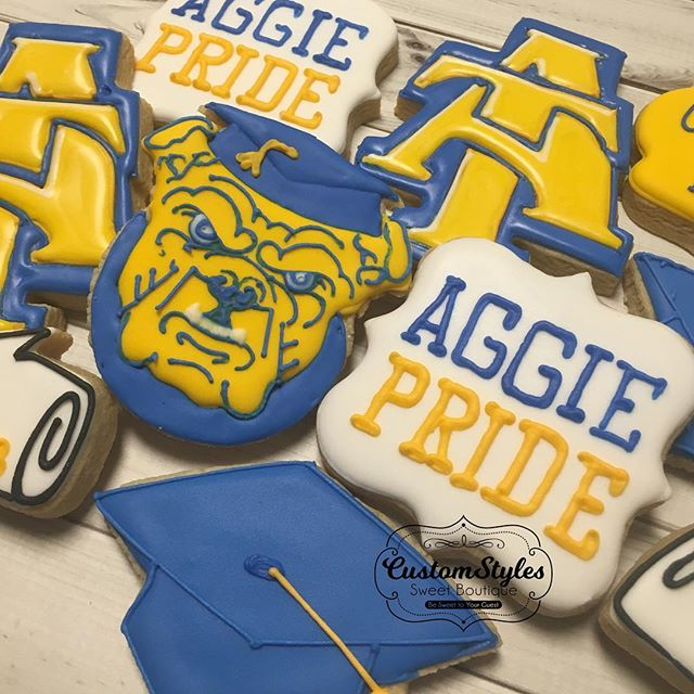 Custom NC A&T cookies