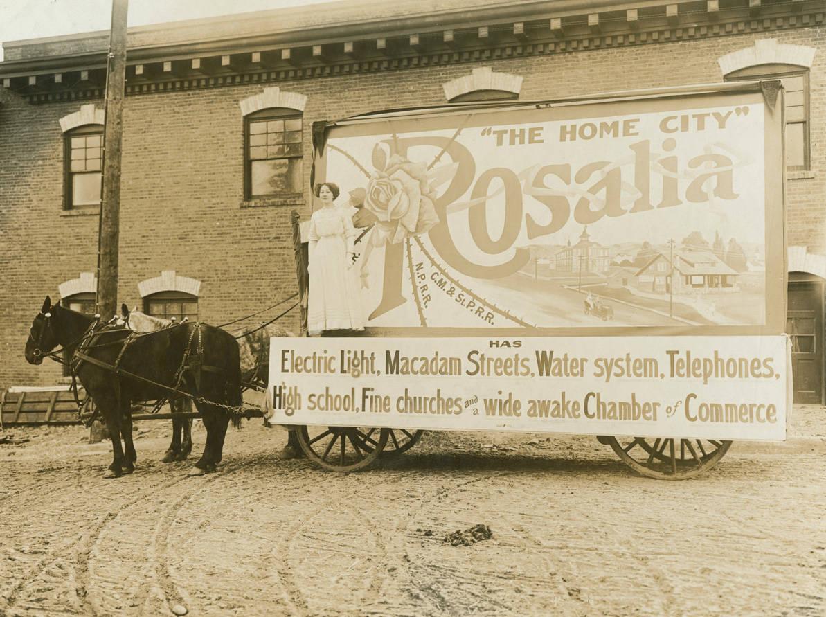 Parade_float_Rosalia_Washington_1911