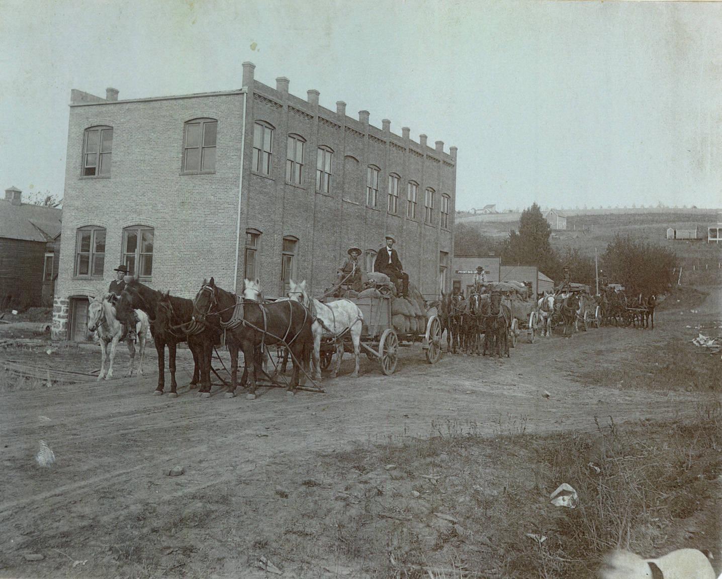 Horse_teams_in_Rosalia_Washington_circa_1920