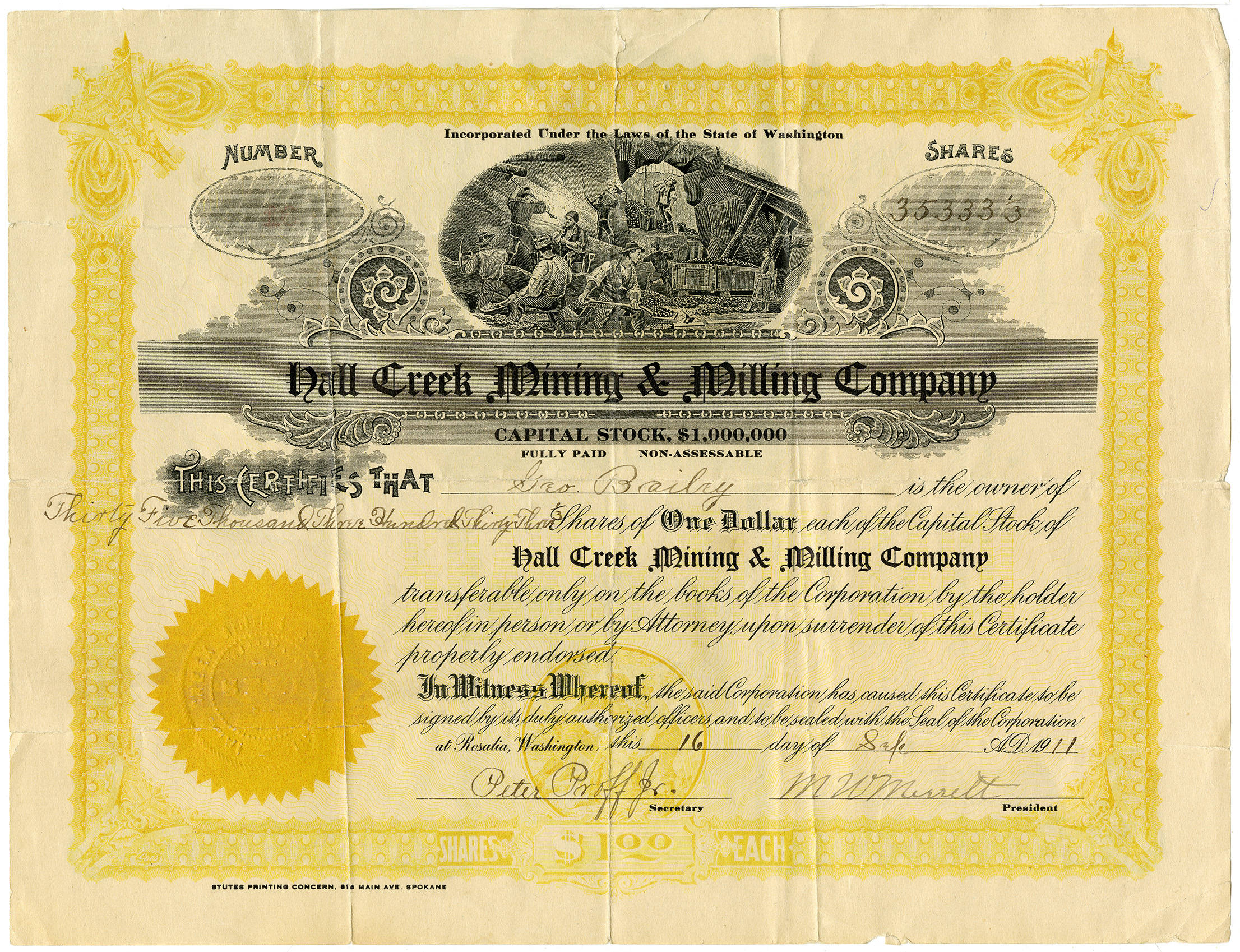 Hall_Creek_mining_stock_certificate_1911