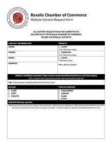 Rosalia Chamber Web Content Request