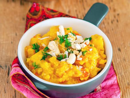 Mijoté de légumes d'hiver et lentilles corail au curry
