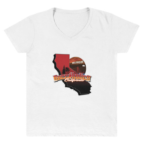 Buccaholics California Women's Casual V-Neck Shirt