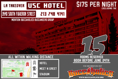 BUCCAHOLICS *SPECIAL*USC HOTEL IN LA