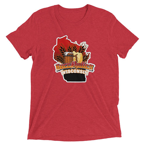 Buccaholics Wisconsin Triblend short  sleeve t-shirt