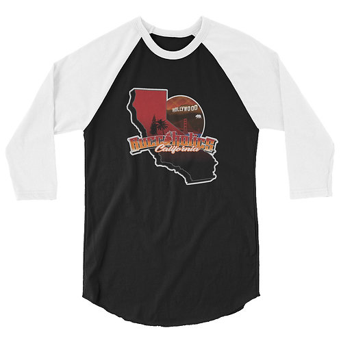 Buccaholics California 3/4 sleeve raglan shirt