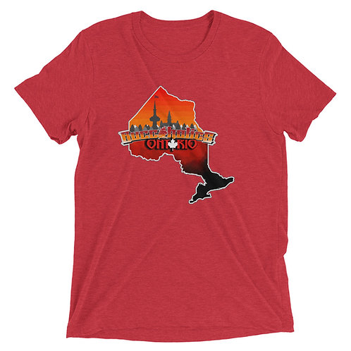 Buccaholics Ontario Canada Triblend Short sleeve t-shirt