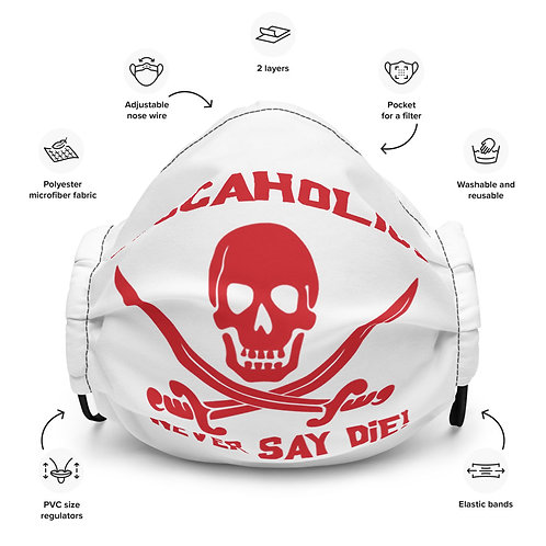 Buccaholics Never Say Die Cloth Face mask
