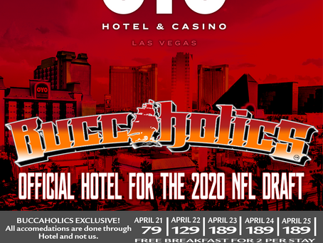 OYO HOTEL & CASINO IS THE BUCCAHOLICS 2020 NFL DRAFT HEADQUARTERS!