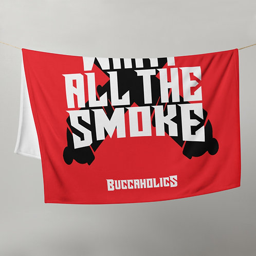 Buccaholics We Want All The Smoke Throw Blanket