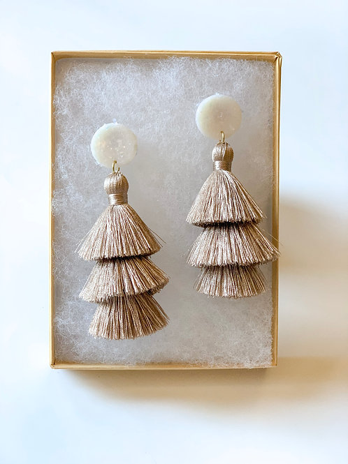 Tiered tassel - Holiday Champagne
