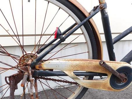 古くなった自転車チューブ