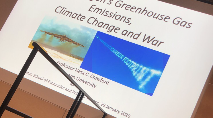 The Pentagon's Greenhouse Gas Emissions, Climate Change and War