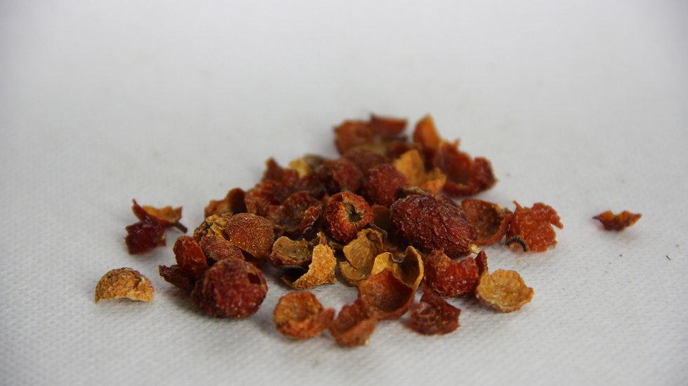 Ягодная смесь (2 вида рябины, кожура шиповника, боярышник), 100г