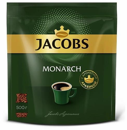 Кофе растворимый JACOBS Monarch натуральный сублимированный, 500г